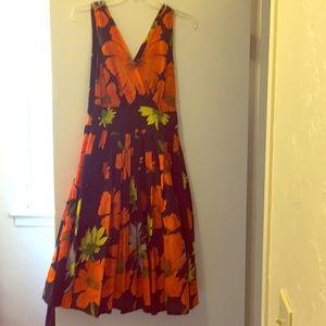 ModCloth fit & flare floral dress medium /size 6